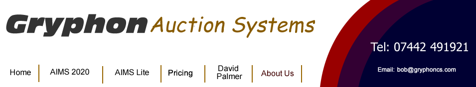 Gryphon Auction Systems - Auction Management Software, David Palmer and other Freelance Auctioneers